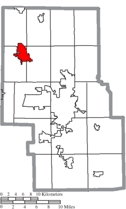 Location of Shelby in Richland County