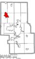 Map of Richland County Ohio Highlighting Shelby City.png