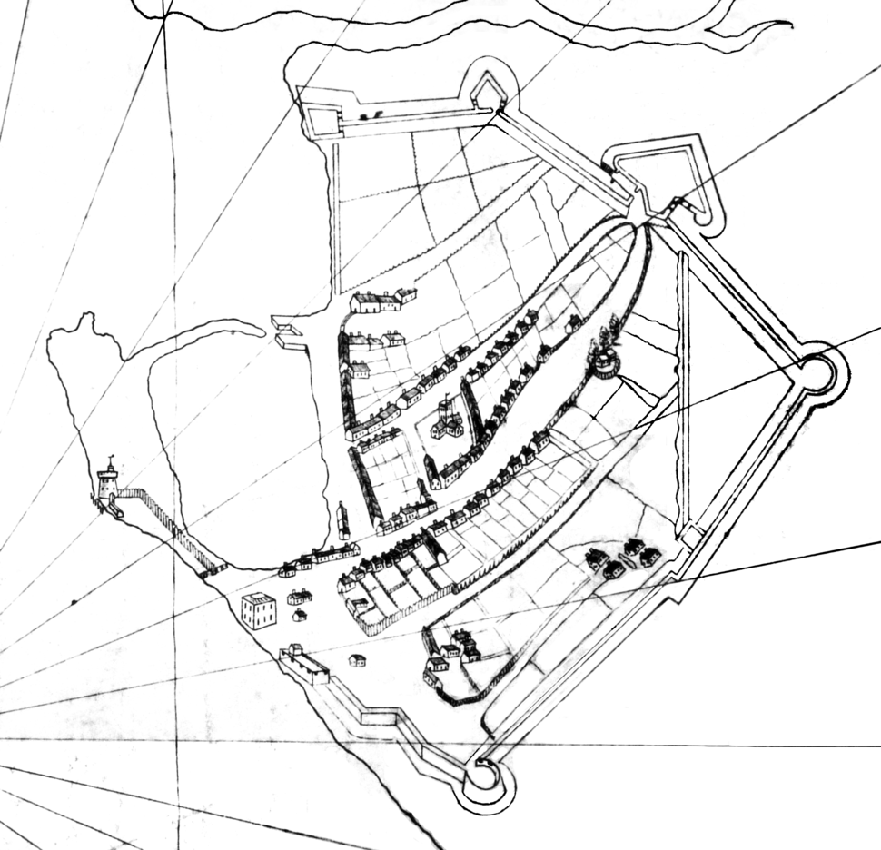 Map of portsmouth a bit before 1540