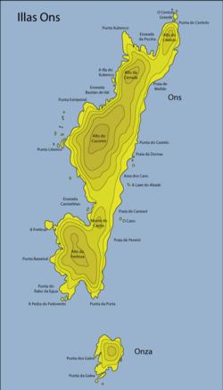 Isla De Ons Mapa.Illa De Ons Wikipedia A Enciclopedia Libre