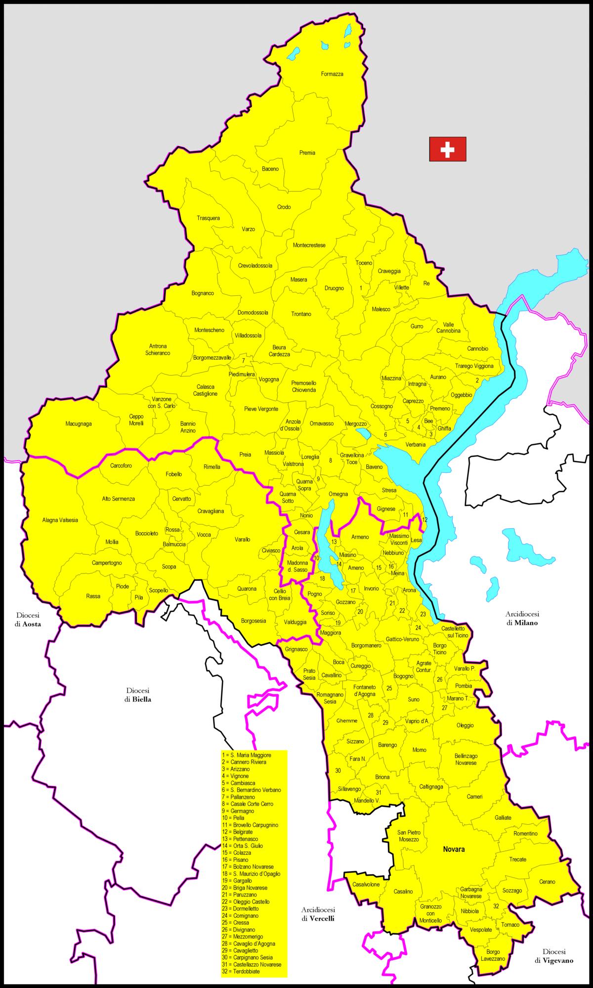 Cartina Italia Novara.File Mappa Diocesi Novara Png Wikipedia