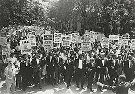 March on Washington for Jobs and Freedom, Martin Luther King, Jr. and Joachim Prinz 1963.jpg