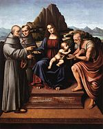 Marco d' Oggiono - Virgin and Child Enthroned with Saints - WGA16635.jpg