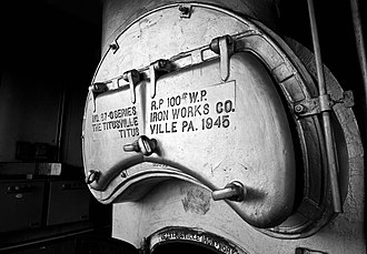 Titusville, Pennsylvania - 1945 ship boiler built by Titusville Iron Works