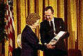 Margaret Thatcher awarded Presidential Medal of Freedom.jpg