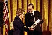 Margaret Thatcher awarded Presidential Medal of Freedom