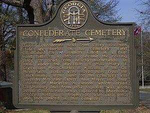 Marietta Confederate Cemetery - Marker at Marietta Confederate Cemetery (2006)