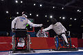 Mario Rodriguez, right, a member of the U.S. Paralympic fencing team, engages France's Ludov LeMoine during a fencing bout during the Paralympic Games at the ExCeL London exhibition and convention center 120904-A-SR101-2155.jpg