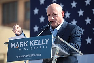 Mark Kelly - Kelly speaking with supporters