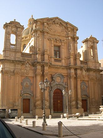 Marsala - Church of Purgatorio, currently seat of the Auditorium Santa Cecilia.