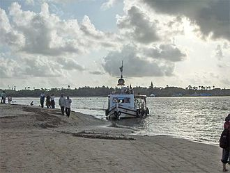 Marve Island - Marve Beach with ferry