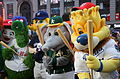 Mascots having fun outside the Good Morning America set. (26079386092).jpg