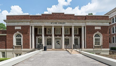 McLure Library in 2016 McLure Library, UA, Tuscaloosa, South view 20160714 1.jpg