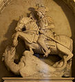 Medieval statue of St. George in the Church Madonna della Greca in Locorotondo.jpg
