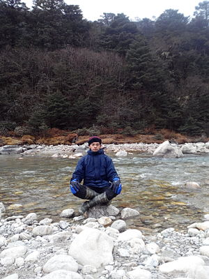 Lachung River - Image: Meditation Lachung River North Sikkim