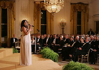 Melinda Doolittle - Doolittle performing for President George W. Bush, Laura Bush and guests in the East Room of the White House, during a social dinner in honor of America's Promise—The Alliance for Youth, November 2007