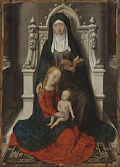 Madonna and Child with St. Anne.