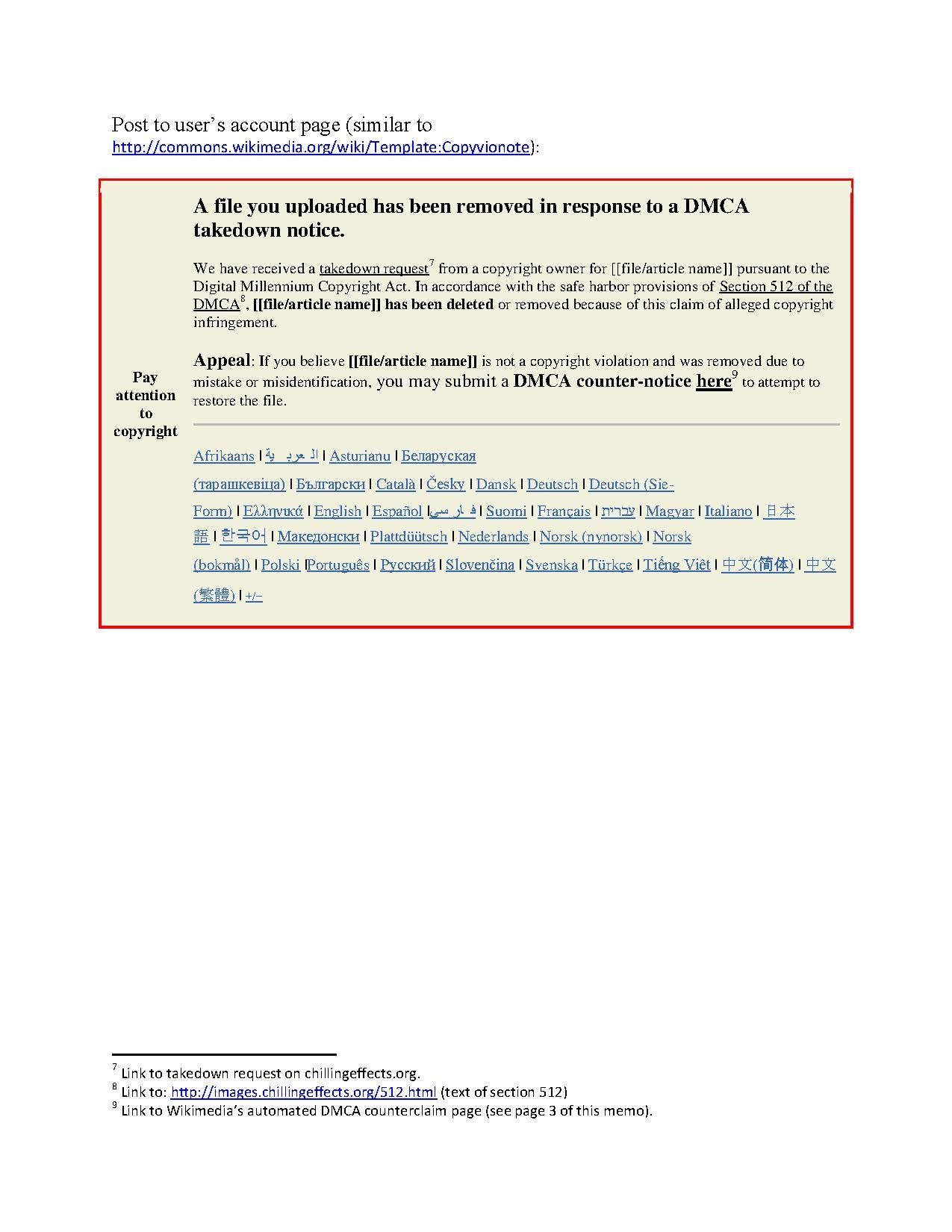 Filememo Wmf Dmca Takedown And Counterclaim Notificatino Template