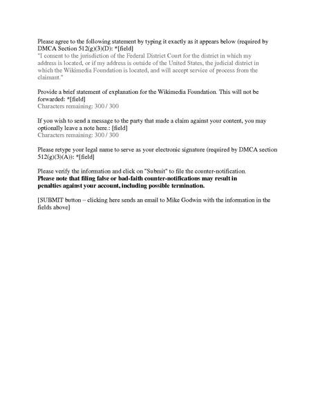 File Memo Wmf Dmca Takedown And Counterclaim Notificatino