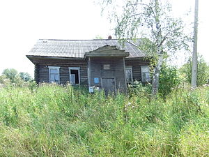 Rural flight - An abandoned post office in Menkovo, Yaroslavl Oblast, Russia