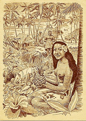 Trader Vic's - Old menu cover, original Trader Vic's, Oakland