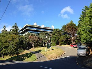 MetService's head office in Kelburn, Wellington