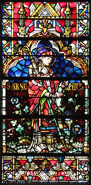 St. Arnoul de Metz, Window by Hermann de Munster, 14. century, Cathedral of Metz, France