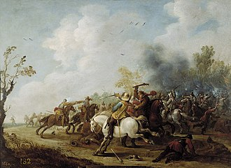 Pieter Meulener - Cavalry skirmish