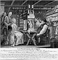 Michel Schuppach in his pharmacy examining a young woman's u Wellcome L0002589.jpg