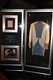Jagger's military-style jacket worn during the 1989-1990 tour, on display at Hard Rock Cafe, Sydney, Australia