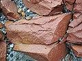 Microsyenite dike (Precambrian; Michipicoten River Bridge South roadcut, south of Wawa, Ontario, Canada) 24 (47924856431).jpg