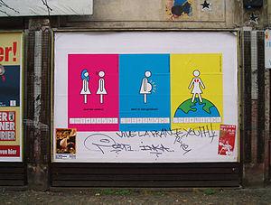 Migrantas - Posters on display in Berlin-Neukoeln as part of an urban action