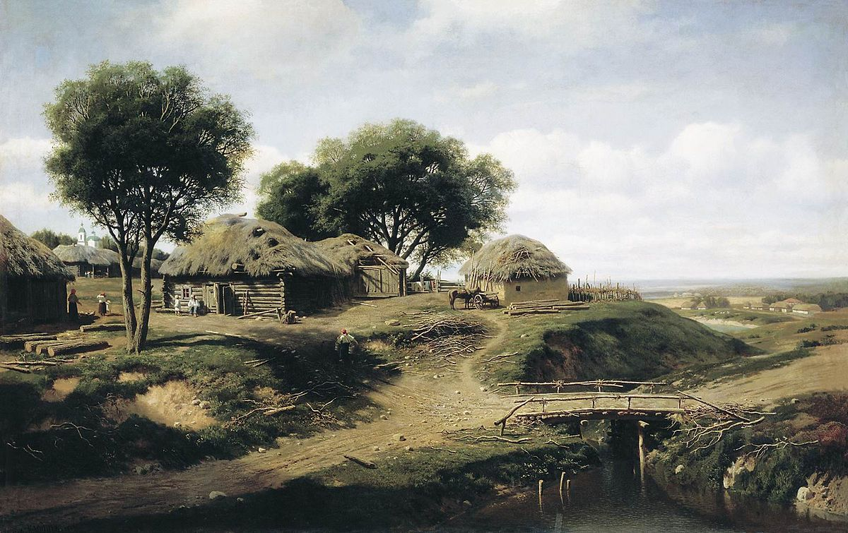 Mikhail Clodt Village in the province of Orel.jpg