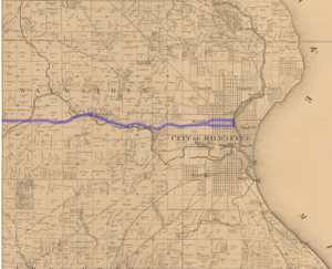 Milwaukee-Watertown Plank Road - Milwaukee-Watertown Plank Road in 1858.