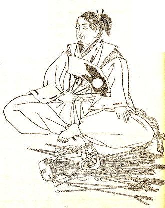 Minamoto no Tsunemoto - Minamoto no Tsunemoto drawn by Kikuchi Yosai