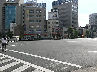 Japan National Route 4 - Minowa Intersection