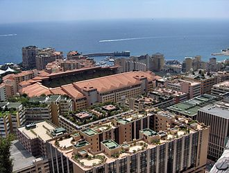 Stade Louis II - A top view of the stadium