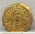 Moneta aurea barbarica a imitazione di coni bizantini, tipo barbarizzato, VI sec.JPG