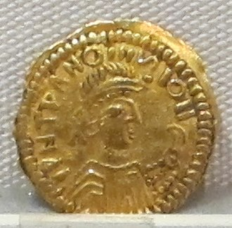 Counterfeit money - Forgery of a Byzantine solidus by a Barbaric mint, 6th century