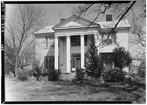 Pendleton, South Carolina - Main house at Montpelier, Samuel Maverick plantation, Pendleton