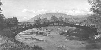 Monument Creek (Arkansas River) - Monument Valley Park Bridge over Monument Creek at Del Norte, 1920