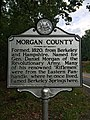 Morgan County Historical Marker Cacapon Road Woodrow WV 2014 09 16 02.jpg