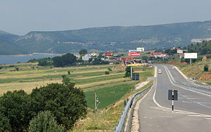 Border crossings of Albania - Morina/Vermica border crossing with Kosovo along A1/R7 Highway