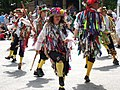 Morris dancers during well dressing, Etwall - geograph.org.uk - 505411.jpg