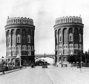 Nikolay Alekseyev - Two water towers, erected in 1892, provided pressure for the new water supply. They were demolished in the 1930s to make way for the expansion of Prospekt Mira.
