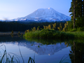 Mount Adams Early Morning Reflection at Takhlakh Lake.png