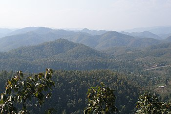 English: Mountains in Mae Hong Son Province, T...