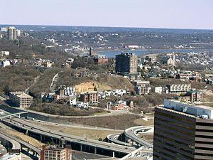 Mount Adams, Cincinnati - Mt. Adams as viewed from downtown Cincinnati.