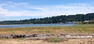 Crescent Beach, Surrey - Northeast-facing view of Mud Bay from Blackie Spit