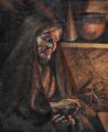 Mulher orando à lareira (1921) - José de Almeida e Silva.png